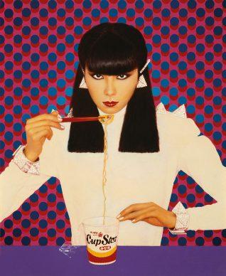 Pierre et Gilles, Bionic Sayoko (Sayoko Yamaguchi); Façade, 1977, painted photograph. © Pierre et Gilles