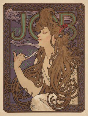 Alphonse Mucha, Job, 1896. Litografia a colori e doratura, 59x44,5 cm, Gretha Arwas Collection, Londra (UK) © Arwas Archives