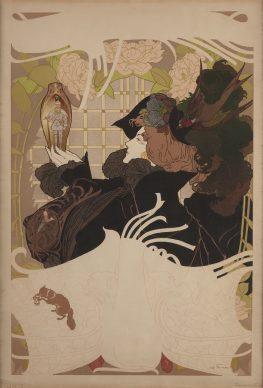 Georges de Feure, Affiche puor Le Journal des ventes, 1898. Litografia a colori, 60,5x40 cm, Private collection, London