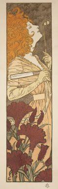 Eugène Grasset, Extravangance, 1897. Litografia a colori, 134x47,5 cm, Gretha Arwas Collection, Londra (UK) © Arwas Archives