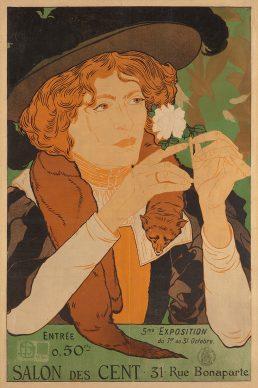 Georges de Feure, Affiche pour la 5ᵉ exposition du Salon des Cent, 1894. Litografia a colori, 65x42,7 cm, Gretha Arwas Collection, Londra (UK) © Arwas Archive