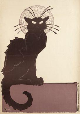 Théophile Alexandre Steinlen, Le Chat noir, 1898. Litografia a colori, 93,2x64,4 cm, Private collection, London