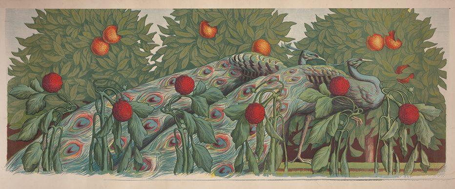 Alfredo Muller, Les Paons, 1903. Litografia a colori, 68,5x158 cm, Private collection, London