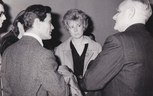 Agenzia Dufoto, Pier Paolo Pasolini, Dacia Maraini, Alberto Moravia, Libreria Einaudi, Roma, dicembre 1963