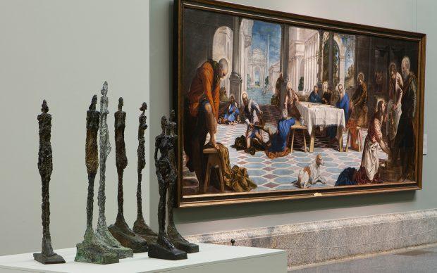 Alberto Giacometti at the Museo del Prado, exhibition view, © Alberto Giacometti Estate / VEGAP, Madrid, 2019 * Photo © Museo Nacional del Prado