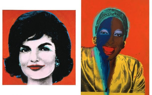 Andy Warhol Ladies and Gentlemen, ca. 1974-75. Synthetic polymer and silkscreen inks on canvas 120 x 80 inches (304.8 x 203.2 cm) © 2019 The Andy Warhol Foundation for the Visual Arts, Inc. / Licensed by Artists Rights Society (ARS), New York Andy Warhol Red Jackie, 1964 Acrylic and silkscreen ink on linen 40 x 40 inches (101.6 x 101.6 cm) © 2019 The Andy Warhol Foundation for the Visual Arts, Inc. / Licensed by Artists Rights Society (ARS), New York