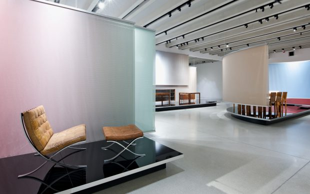 Bauhaus Museum Weimar, area del percorso espositivo dedicata a Mies van der Rohe. Photo by Andrew Alberts, copyright heike hanada laboratory of art and architecture 2019