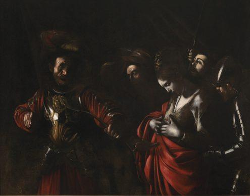 Caravaggio, Martirio di sant'Orsola, 1610, Olio su tela, cm 143 x 180, Collezione Intesa Sanpaolo, Napoli, Gallerie d'Italia, Palazzo Zevallos Stigliano, Intesa Sanpaolo, Archivio Patrimonio Artistico /  foto Luciano Pedicini