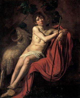 Caravaggio, San Giovanni Battista, 1610, Olio su tela, cm 159 x 124 Roma, Galleria Borghese. Foto © Bridgeman Image