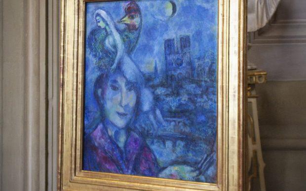 Chagall autoritratto con notre-dame gallerie degli uffizi firenze