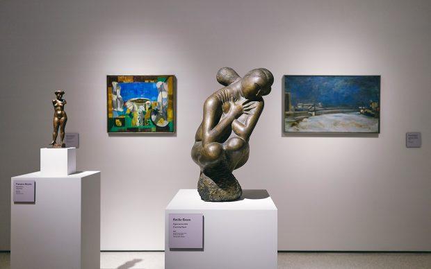 Installation view della mostra Italia Moderna 1945-1975. Dalla Ricostruzione alla Contestazione, Palazzo Buontalenti, Pistoia, 2019