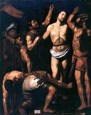 Louis Finson, Martirio di san Sebastiano, 1615?, Olio su tela, cm 220 x 162,  Rougiers (Var), chiesa parrocchiale Patrick Glotain / Baussan