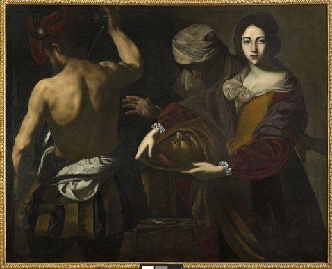 Massimo Stanzione, Salomé con la testa del Battista, 1620 circa, Olio su tela, cm 122 x 152, Roma, collezione privata Manusardi srl Artphotostudio, Milano