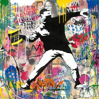 Mr.Brainwash, Banksy, 2018 - Courtesy of Galleria Deodato Arte and the artist