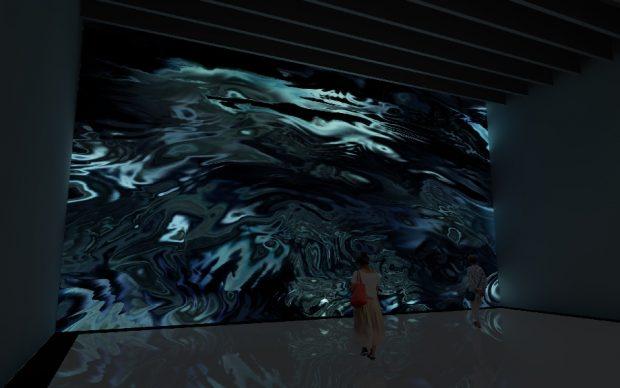 Pixels Noir Lumières Miguel Chevalier