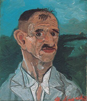 Antonio Ligabue (1899-1965), Autoritratto (Self-portrait), Undated (1940-42), Oil on wood, 25,5x10,5cm, Private collection ©