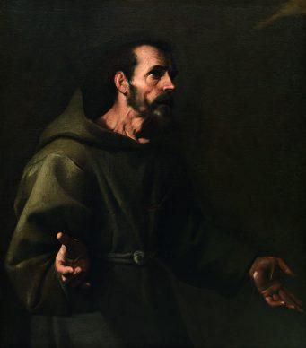 Carlo Sellitto, San Francesco riceve le stimmate, 1611 circa, Olio su tela, cm 105 x 90, Collezione privata. Courtesy Galleria Porcini