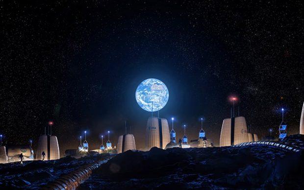 Studio SOM Moon Village esplorazione Luna abitazioni