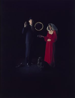 Eileen Cowin, Marriage of the Arnolfini, 1985, Dye diffusion print, Image: 66 × 50.8 cm (26 × 20 in.), The J. Paul Getty Museum, Los Angeles, Gift of The Artist © Eileen Cowin 2015.15.45