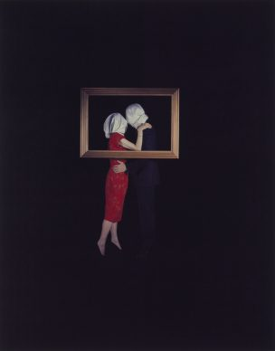 Eileen Cowin, Magritte, 1987, Dye diffusion print, Image: 61 × 48 cm (24 × 18 7/8 in.), The J. Paul Getty Museum, Los Angeles, Gift of The Artist © Eileen Cowin 2015.15.49