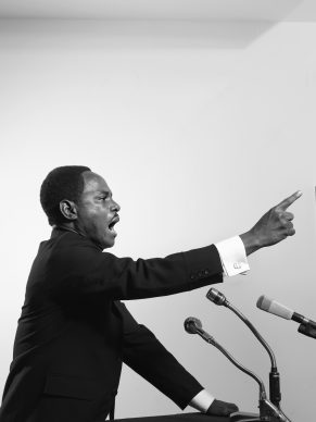 Samuel Fosso, Untitled (Martin Luther King Jr.), 2008, Gelatin silver print, Framed: 101.6 × 75.9 cm (40 × 29 7/8 in.), Joshua R. Cammaker © Samuel Fosso, courtesy Jean Marc Patras, Paris EX.2019.4.