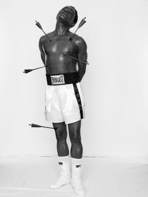 Samuel Fosso, Untitled (Muhammad Ali), 2008, Gelatin silver print, Framed: 101.6 × 75.9 cm (40 × 29 7/8 in.) Isabel Stainow Wilcox © Samuel Fosso, courtesy Jean Marc Patras, Paris EX.2019.4.9