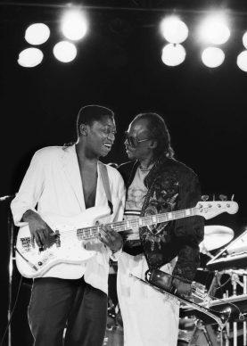Darryl Hall e Miles Davis, Umbria Jazz, Perugia 1985 © Lelli e Masotti / Lelli e Masotti Archivio