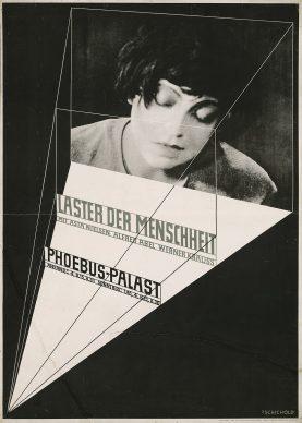 Jan Tschichold, (Entwurf) Laster der Menschheit, 1927, Plakat (Raster- und Tiefdruck) © Staatliche Museen zu Berlin, Kunstbibliothek © Familie Tschichold
