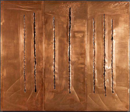 Lucio Fontana, Concetto Spaziale, New York 10, 1962, Fondazione Lucio Fontana, Milano © Fondazione Lucio Fontana, Bilbao, 2019