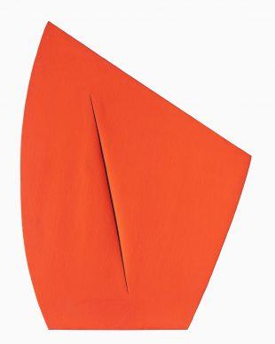 Lucio Fontana, Concetto Spaziale, Attesa, 1959, Collezione Prada, Milan © Fondazione Lucio Fontana, Bilbao, 2019