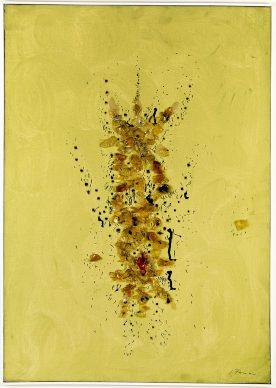 Lucio Fontana, Concetto Spaziale, 1954, Private Collection, Italy © Fondazione Lucio Fontana, Bilbao, 2019