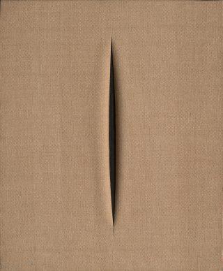 Lucio Fontana, Concetto Spaziale, Attesa, 1968, Vitart, Switzerland © Fondazione Lucio Fontana, Bilbao, 2019