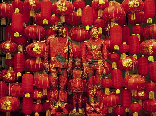 Liu Bolin, Family Photo, 2012.  Courtesy: Boxart, Verona