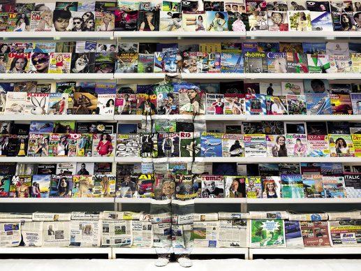 Liu Bolin, Italy Magazine, 2012. Courtesy: Boxart, Verona