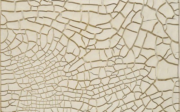 Alberto Burri: Cretto G3, 1975, Acrovinilico su cellotex, cm 172x151 (175x154x7,5). Fondazione Palazzo Albizzini Collezione Burri