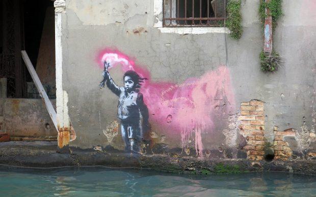Banksy a Venezia, 2019, photo by Lapo Simeon via Artribune