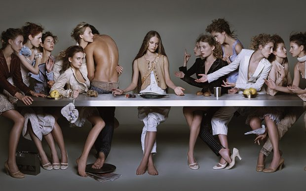 Brigitte Niedermair, Campaign M+F Girbaud 2004 THE LAST SUPPER, 58x30,12 cm without frame