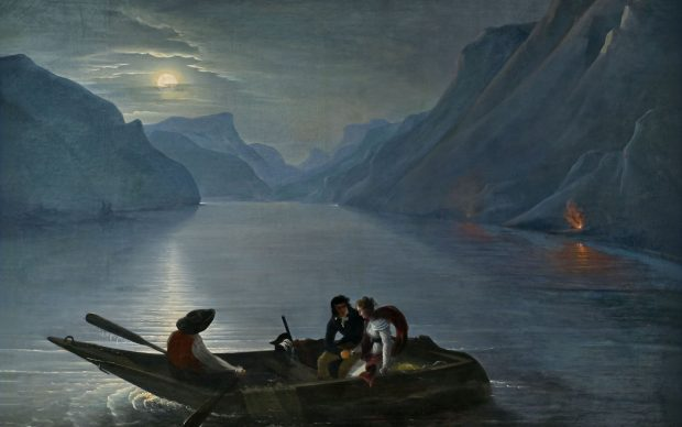 Charles-Édouard Leprince, barone di Crespy, Promenade de Julie et Saint-Preux sur le lac de Genève, photo by Didier Fontain