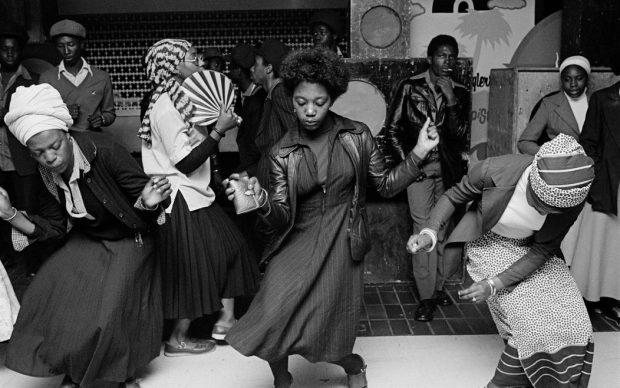 Chris Steele-Perkins, Girls dancing in youthclub, Wolverhampton, 1978