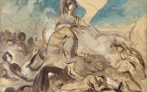 Eugene Delacroix, Esquisse pour La liberté guidant le peuple – Musée du Louvre (dist. RMN-GP) Hervé Lewandowski