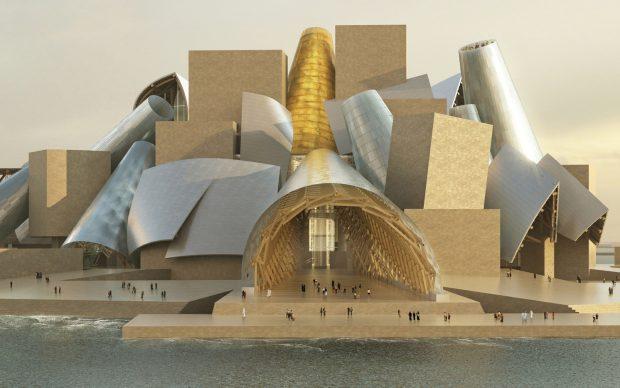 Guggenheim Abu Dhabi, courtesy Gehry Partners via archdaily.com