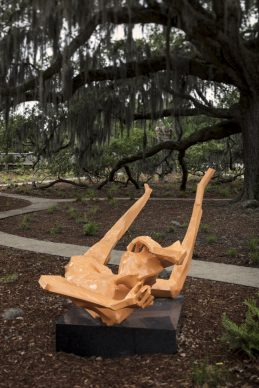 The Sydney and Walda Besthoff Sculpture Garden Expansion at the New Orleans Museum of Art. Georg Herold, Liver of Love, 2013. Photo Credit: Richard Sexton