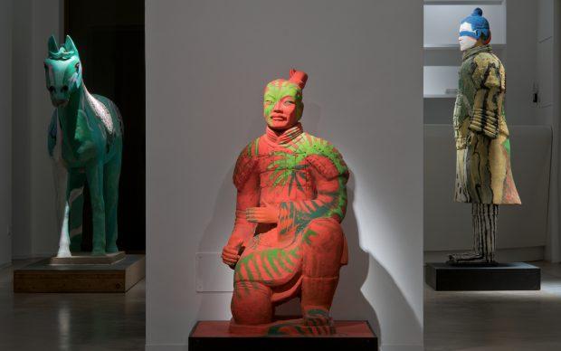 Sandro Chia, L'esercito dell'imperatore, Installation view presso AreaB, Milano