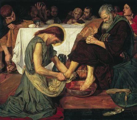 Ford Madox Brown, Gesù lava i piedi di Pietro, 1852-56. Tate: Presented by subscribers, 1893 © Tate, London 2019