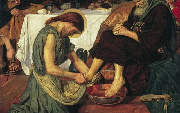 Ford Madox Brown (1821-1893) Gesù lava i piedi di Pietro, 1852-56 Olio su tela, cm 116,2 x 132,7 Tate: Presented by subscribers 1893 ©Tate, London 2019