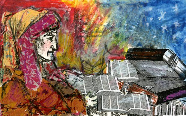 Emanuele Luzzati, Illustrazione per il Corriere della Sera, 2004, via Palazzo Ducale - https://www.palazzoducale.genova.it