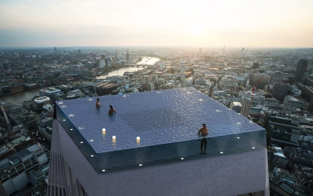 Infinity London piscina a sfioro 360 gradi