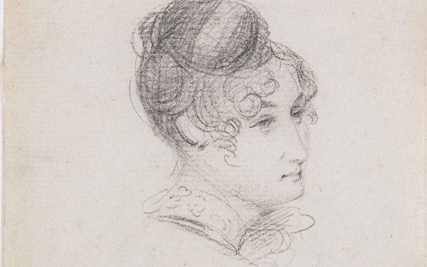 John Constable, Ritratto a matita della moglie Maria Bicknell, photo by Chiswick Auctions-PA