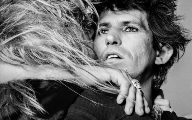 Keith Richards and Patti Hansen, New York © Lynn Goldsmith 1981