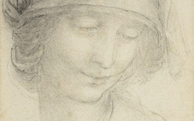 Leonardo da Vinci, The head of St Anne, c.1510-15 Credit: Royal Collection Trust/(c) Her Majesty Queen Elizabeth II 2019 For single use only in relation to Leonardo da Vinci: A Life in Drawing at The Queen's Gallery, Buckingham Palace, 24 May - 13 October 2019. Not to be archived or passed on to third parties.